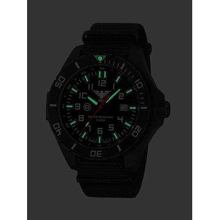 KHS Tactical Watches KHS Einsatzuhr Landleader Black Steel mit Natoband Black