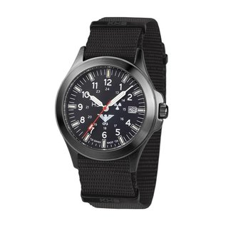 KHS Tactical Watches KHS Black Platoon H3 Titan Automatic Watch - Nato Strap Black