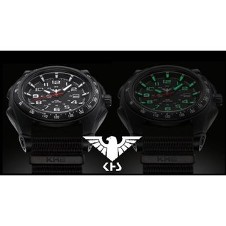KHS Tactical Watches KHS Sentinel -A-Black with Nato Strap Oliv | KHS.SEAB.NO