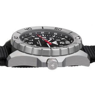 KHS Tactical Watches KHS Special operations Watch Country Leader Steel with Army Strap Olive
