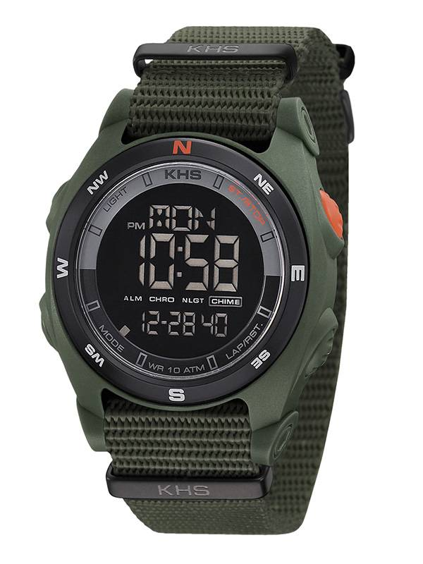khs tactical watch digital compass men 39 s alarm chronograph. Black Bedroom Furniture Sets. Home Design Ideas