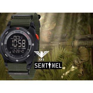 KHS Tactical Watches Sentinel DC - Digital Compas Alarm Chronograph Oliv | Nato Band Oliv