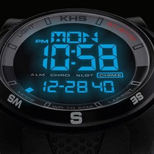 KHS Tactical Watches Sentinel DC - Digital Compas Alarm Chronograph Oliv | Nato Band Oliv