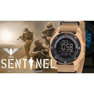 KHS Tactical Watches Sentinel DC - Digital Alarm Chronograph mit Digital Compass