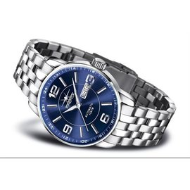 Firefox Watches  Firefox Men's Automatic Watch Blue-Silver - Leather bracelet