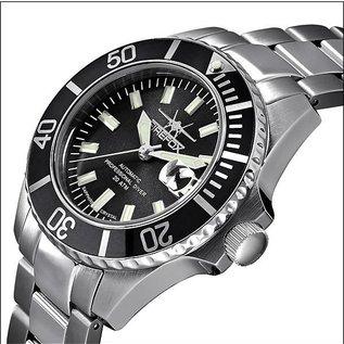 Firefox Watches  FIREFOX Automatik Taucheruhr Sea Commander Black 200 Meter