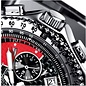 Firefox Watches  RACER Stainless Steel Chronograph Men's Wristwatch 10 ATM / black and red