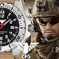 KHS Tactical Watches KHS Herrenuhr Landleader Steel mit Diver Band Tan