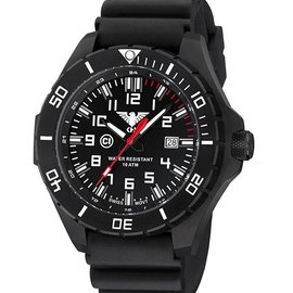 KHS Tactical Watches Landleader Black Steel mit Diver Armband Black | KHS.LANBS.DB