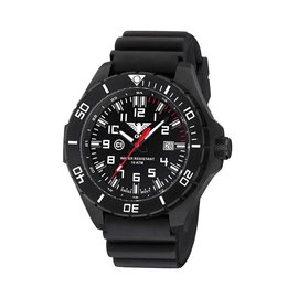 KHS Tactical Watches KHS Landleader Black Steel with Diver Band Black | KHS.LANBS.DB