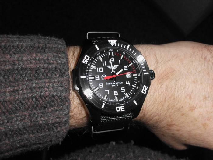 Khs Tactical Watches Landleader Black Steel Diver Strap