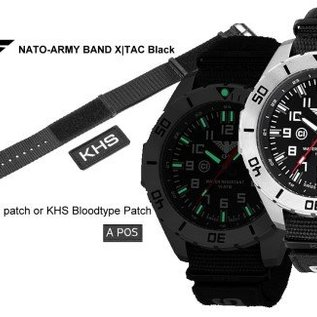 KHS Tactical Watches KHS Tactical Watches Landleader Black Steel Natoband XTAC Black | KHS.LANBS.NXT7