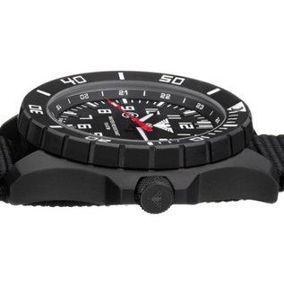 KHS Tactical Watches KHS Tactical Watches Landleader Black Steel Natoband XTAC Oliv | KHS.LANBS.NXTO1