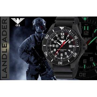 KHS Tactical Watches KHS Tactical Watches Landleader Steel Armyband XTAC Oliv | KHS.LANS.NXT7