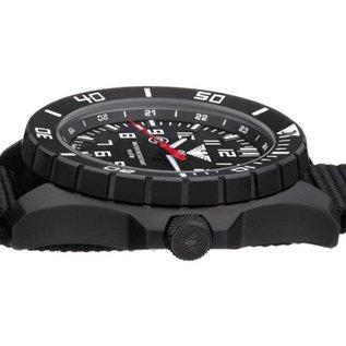 KHS Tactical Watches KHS Tactical Watches Landleader Black Steel mit Büffel Leder Armband| KHS.LANBS.LBB