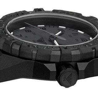 KHS Tactical Watches Military Watch Reaper XTAC Diver Bracelet Black   RED HALO H3 lighting system