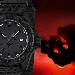 KHS Tactical Watches KHS Tactical Watches KHS Reaper XTAC mit schwarzen Diver Band, Red HALO H3 Leuchtsystem