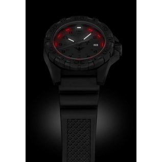 KHS Tactical Watches KHS Tactical Watches KHS Reaper XTAC mit schwarzen Silikon Band, Red HALO H3 Leuchtsystem | KHS.REXT.SB