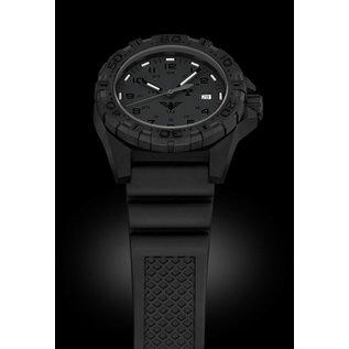 KHS Tactical Watches KHS Tactical Watches KHS Reaper XTAC mit schwarzen Silikon Band, Red HALO H3 Leuchtsystem   KHS.REXT.SB