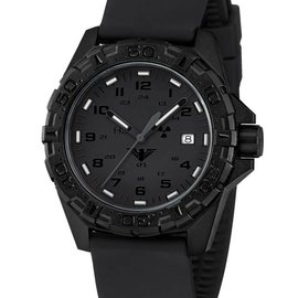 KHS Tactical Watches Military Watch Reaper XTAC Silicone Bracelet Black