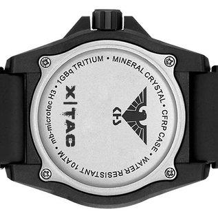 KHS Tactical Watches KHS Tactical Watches KHS Reaper XTAC mit schwarzen XTAC Natoarmband, Red HALO H3 Leuchtsystem