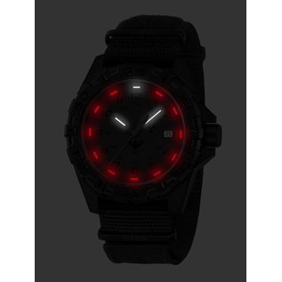 KHS Tactical Watches KHS Tactical Watches KHS Reaper XTAC mit schwarzen XTAC Natoarmband, Red HALO H3 Leuchtsystem