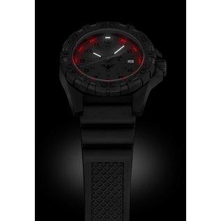 KHS Tactical Watches KHS Tactical Watches KHS Reaper XTAC mit schwarzen Lederband G-Pad   Red HALO H3 Leuchtsystem