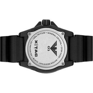 KHS Tactical Watches KHS Tactical Watches KHS Reaper XTAC mit schwarzen Lederband Kraftband | Red HALO H3 Leuchtsystem