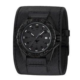 KHS Tactical Watches KHS Reaper XTAC mit schwarzen Lederband Kraftband KHS.REXT.LK