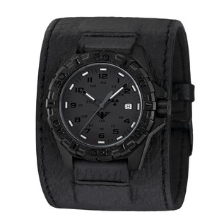 KHS Tactical Watches KHS Military Watches Reaper XTAC with black leather power band | KHS.REXT.LK