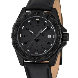 KHS Tactical Watches KHS Military Watches Reaper XTAC with black leather band | KHS.REXT.L