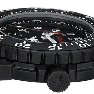 KHS Tactical Watches Einsatzuhr Enforcer Black Steel MK3   Natoarmband Olive