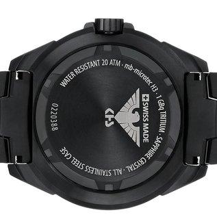 KHS Tactical Watches Military Watch Enforcer Black Steel MK3 | Black Diver Strap