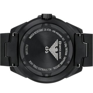 KHS Tactical Watches Military Watch Enforcer Black Steel MK3 | Black Diver Strap