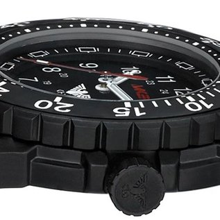 KHS Tactical Watches Einsatzuhr Enforcer Black Steel MK3 | Diver Band Black