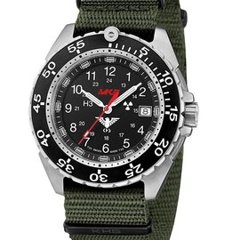 KHS Tactical Watches Military Watch Enforcer Steel | Nato Band Green