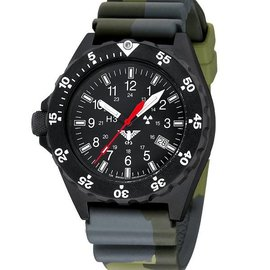 KHS Tactical Watches KHS Shooter with Diver Strap Camouflage Olive - Copy