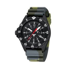 KHS Tactical Watches KHS Shooter H3 Militäruhr Camouflage Olive