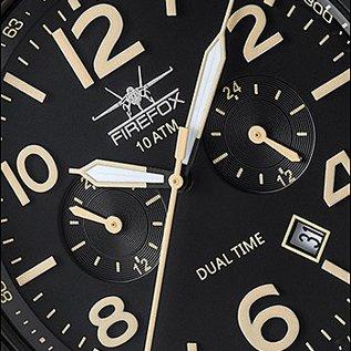 Firefox Watches FIREFOX HORIZON Dual Timer 10 ATM FFS305-102L schwarz