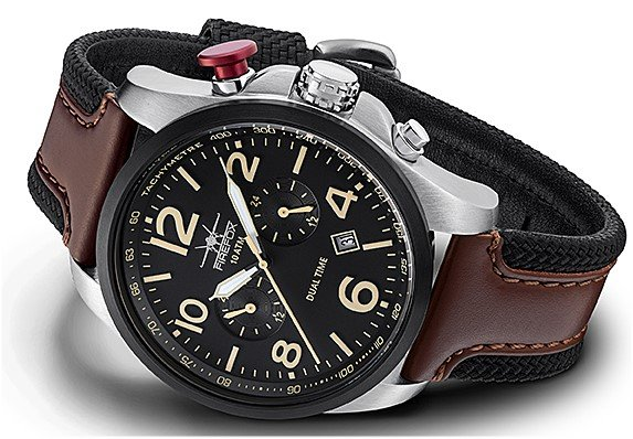 chronograph eu armywatch firefox s copy mens black atm en time luxury dual men aviator business horizon watches watch ti