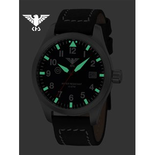 KHS Tactical Watches  KHS Pilot Watch Airleader Steel Leather Brown | KHS.AIRS.LB5  - Copy