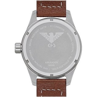 KHS Tactical Watches  KHS Pilot Watch Airleader Steel Leather Brown   KHS.AIRS.LB5  - Copy