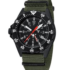 KHS Tactical Watches KHS Shooter GMT | Natoarmband Oliv
