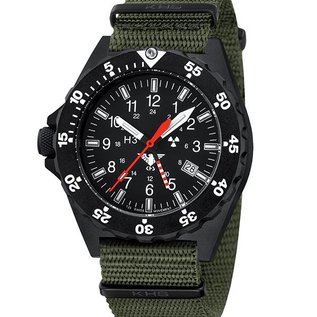 KHS Tactical Watches Military Watch SHOOTER GMT | NATO Strap Green