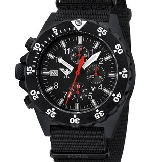 KHS Tactical Watches KHS Shooter Chronograph mit Natoarmband Black | KHS.SHC.NB