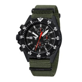 KHS Tactical Watches KHS Shooter  H3 Chronograph | Natoarmband Oliv