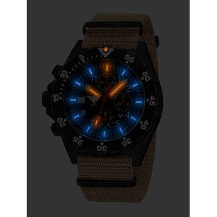 KHS Tactical Watches KHS Shooter Chronograph mit Natoarmband TAN | KHS.SHC.NT
