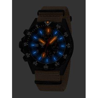 KHS Tactical Watches KHS Tactical Watches Shooter H3 Chronograph | NATO Strap Tan-Beige