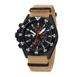 KHS Tactical Watches KHS Shooter  H3 Chronograph | Natoarmband TAN