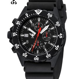 KHS Tactical Watches KHS Shooter  H3 Chronograph | Diverband Black